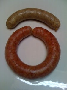Comparison of nitrates in sausage