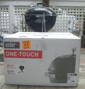 Weber 26 inch grill in the box