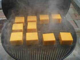 Cold smoked cheese on a Weber 26 inch grill