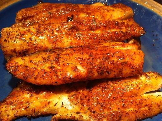 Foil grilled trout