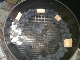 Lit Ring of fire on the Weber 26