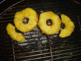 grilling pineapple on a Weber 26.75