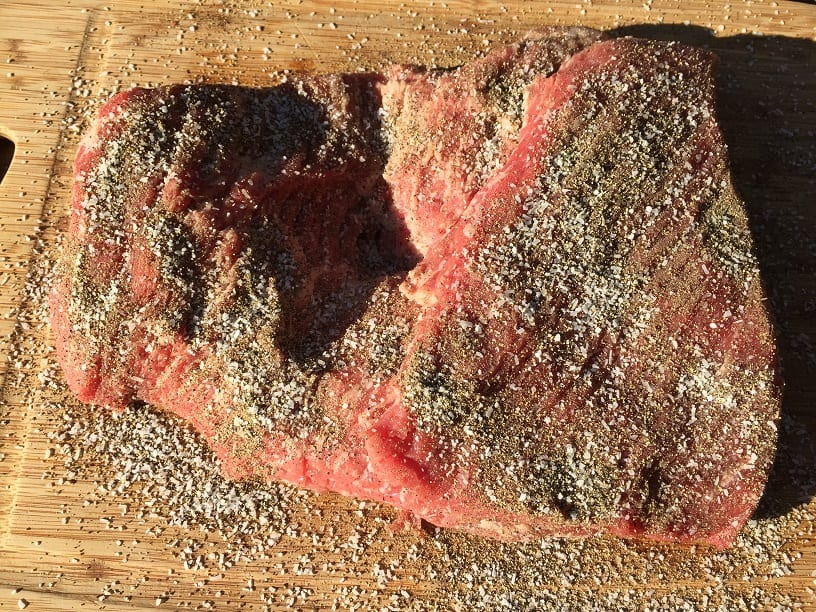 Brisket with salt and pepper