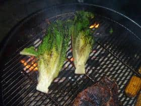 Grilled Romaine lettuce on the Weber 26.75