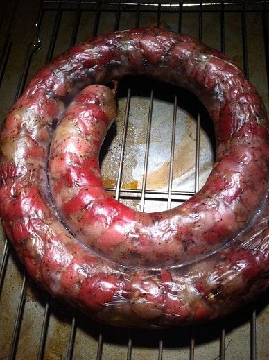 baked homemade sausage