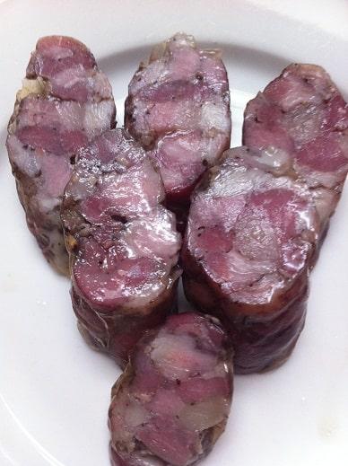 Rustic handmade sausage