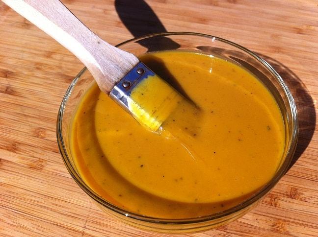 Homemade mustard bbq sauce
