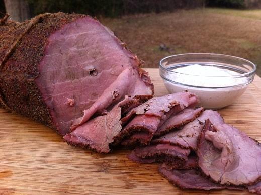 Rotisserie Roast Beef with Horseradish Cream Sauce