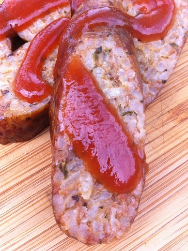 Boudin with Spict BBQ Sauce