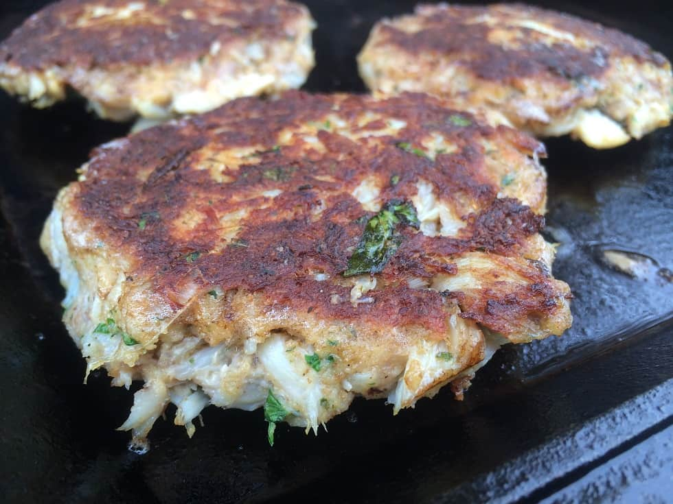 Crab Cakes on a Weber Griddle