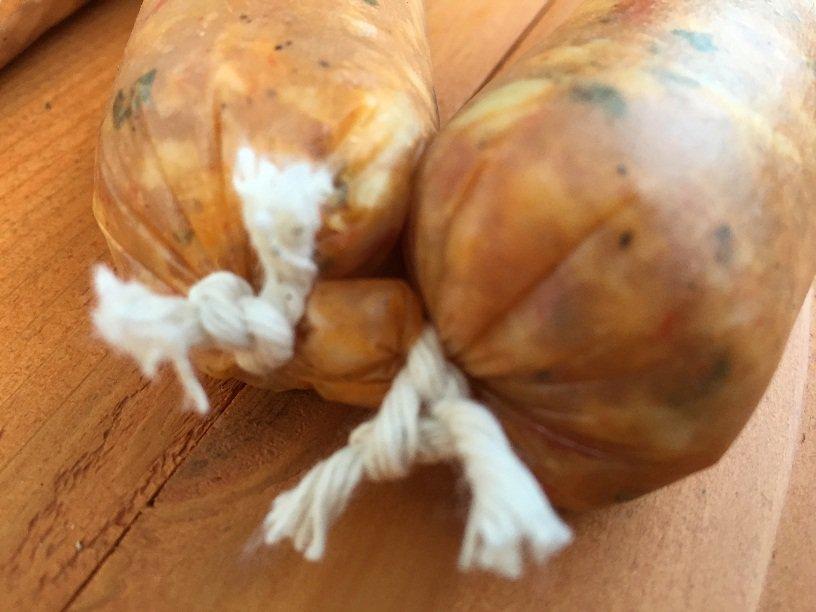 Knots in Chicken sausage links