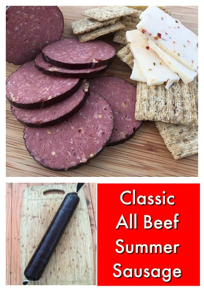All Beef Sausage Pin for Pinterest