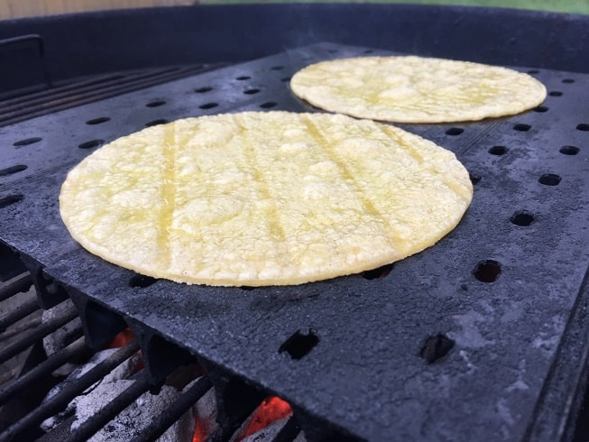 Tortillas on GrillGrate panels