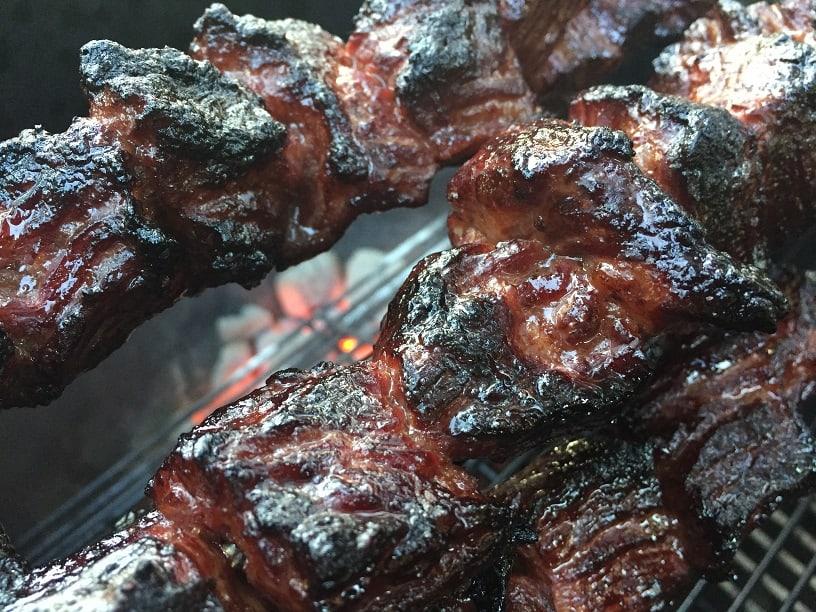 Rotisserie Beef Kebabs