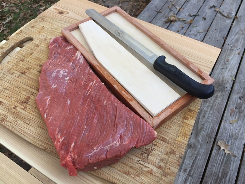 Brisket flat and jerky board
