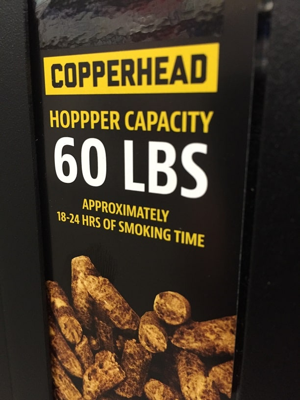 Copperhead Pellet Hopper Capacity