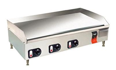 Large electric griddle for restaurant use
