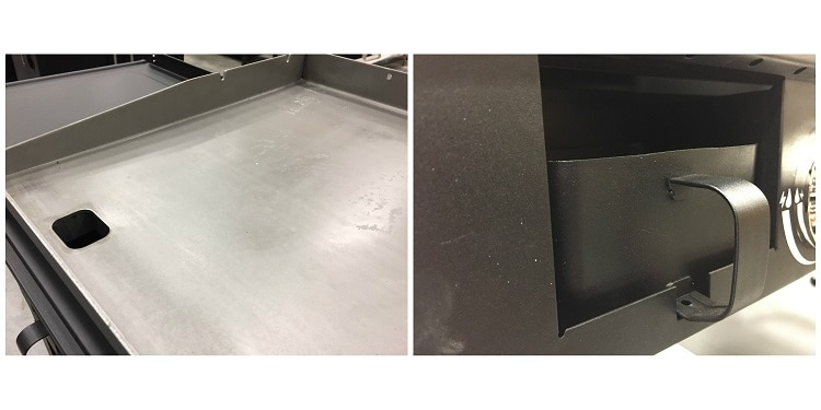 Grease drainage for Griddle