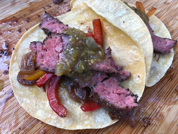 Flap Steak fajitas