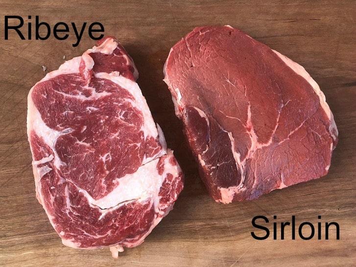 Sirloin vs Ribeye