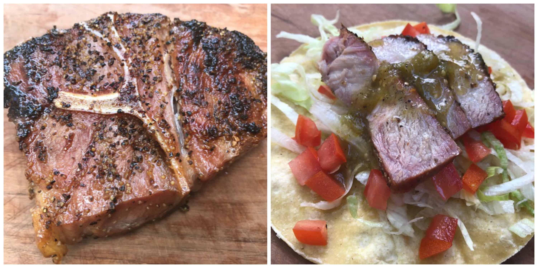 Pork Steak Tacos