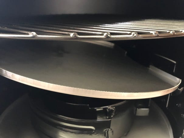 sloped grease tray