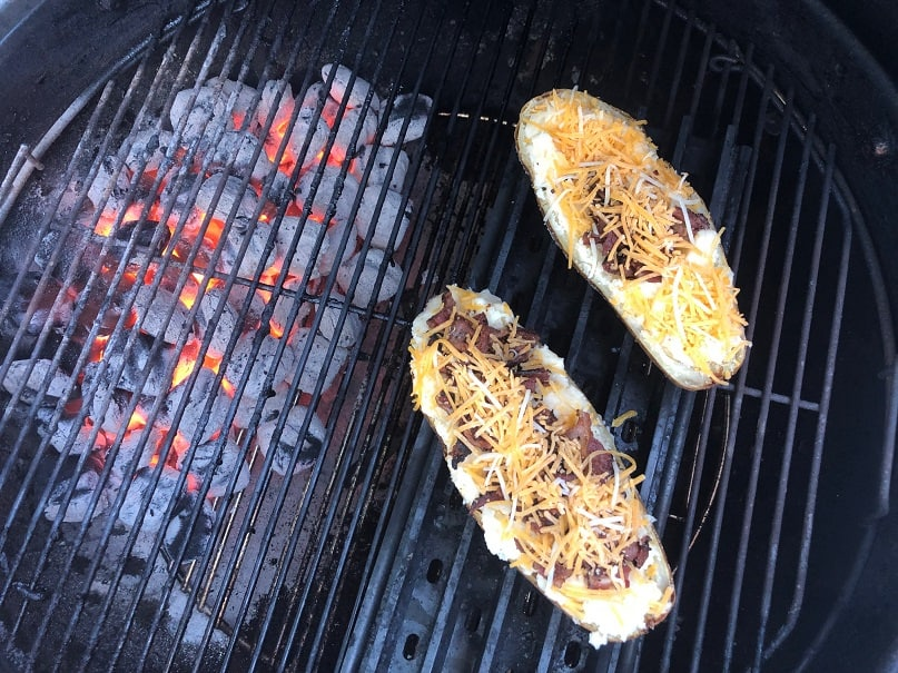 Twice Baked Potato on Weber Grill