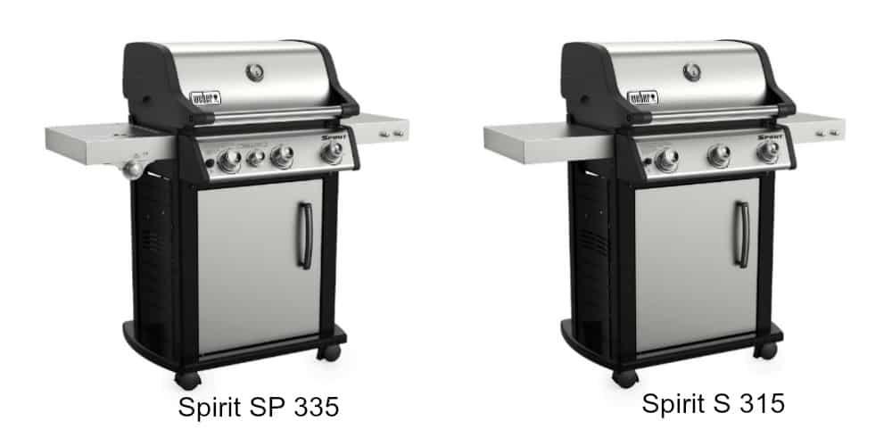 Weber Spirit S315 vs SP 335