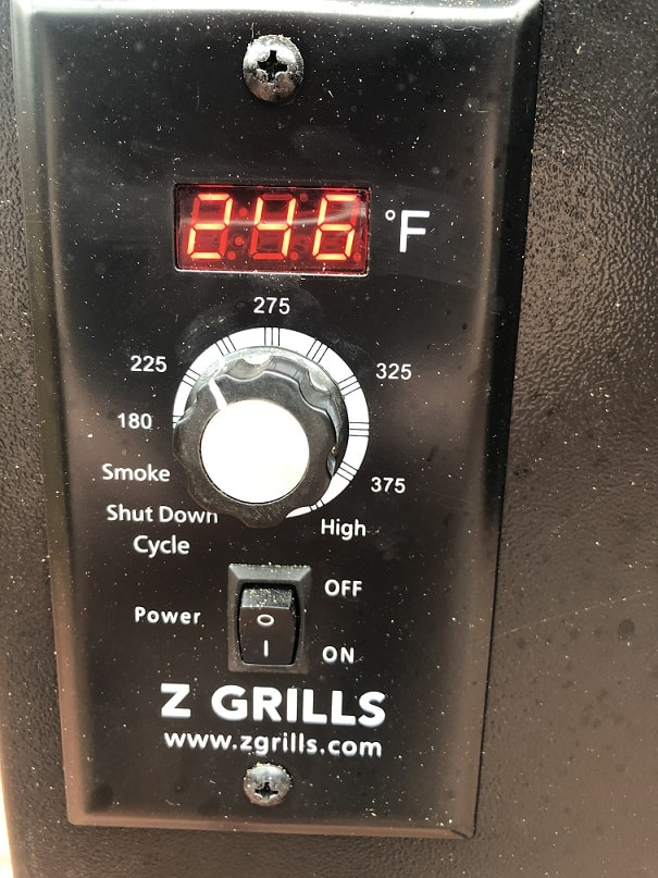 Z Grill Control Panel