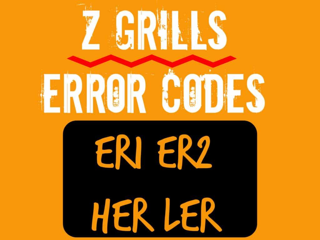 Z Grills Error Codes