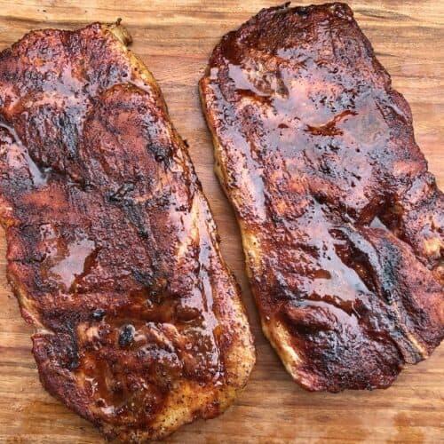 Smoked Pork Steaks with BBQ Sauce